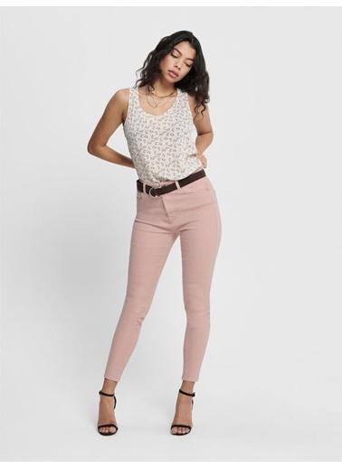 Only Only Kadın Yüksek Bel Renkli Jean Pantolon 15196981 Pembe